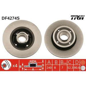 DISQUES DE FREIN TRW Disque de frein unitaire DF4274S