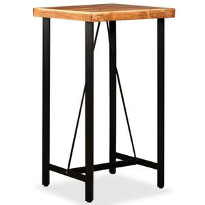 MANGE-DEBOUT Table de bar Bois massif de Sesham 60 x 60 x 107 c