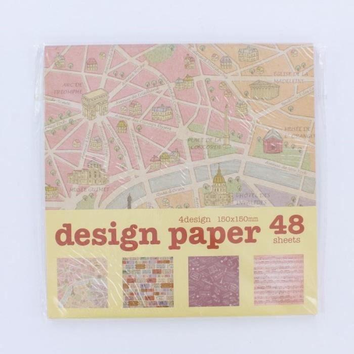 LA FOURMI Papier Origami - Vintage - 48 Pièces