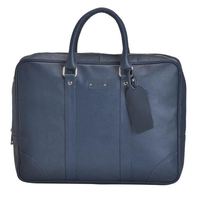 Foncé Les 16 100 Pouces Sac Véritable Ordinateur Xoeuh En Hommes Unisexe Cuir Bleu Portable 2 Pour De Safiano PqrPxF0