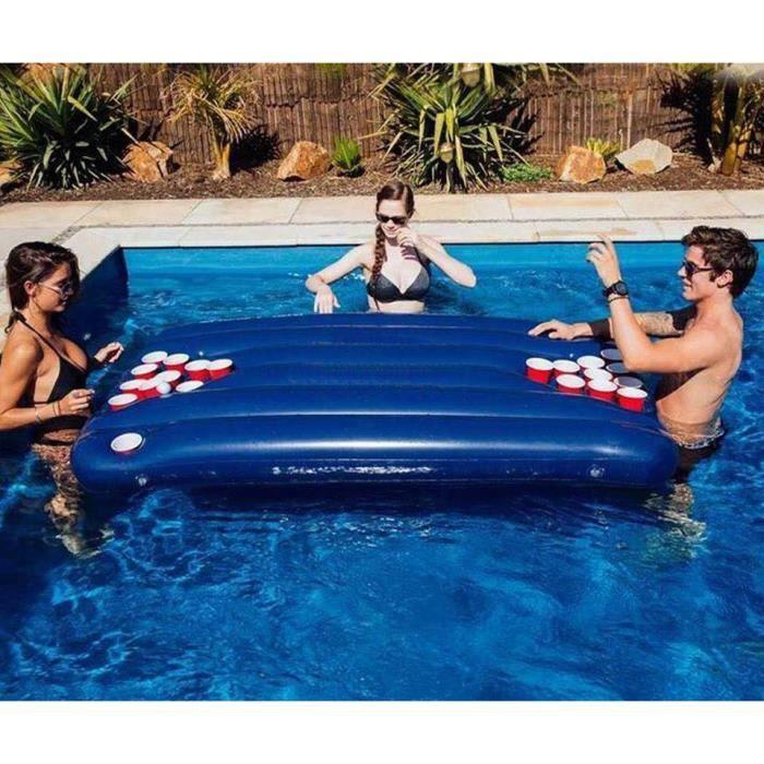 matelas table de beer pong pour piscine achat vente table multi jeux cdiscount