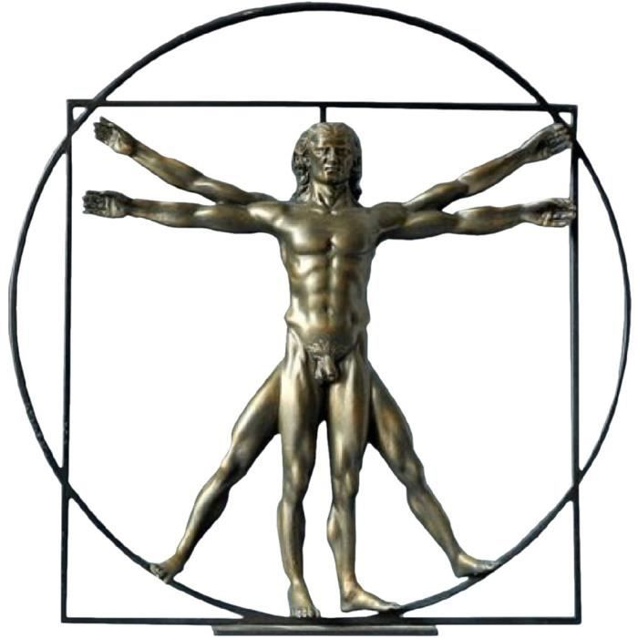 Grande Statue Léonard de Vinci - l'homme de Vitruve - Achat / Vente statue - statuette - Cdiscount