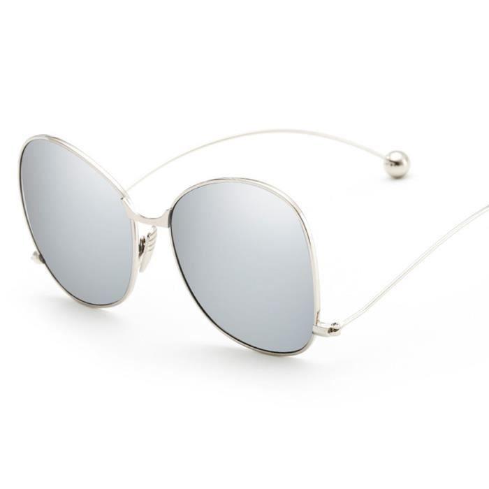 Lunettes de soleil polarisées à lunette en métal lunettes unisex avec boule en acier NO.6
