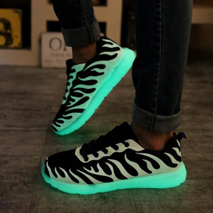 chaussures fluorescents Sport Homme chaussures lumineuses baskets fluorescents hc7vhImw
