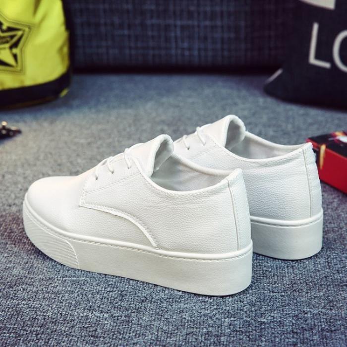 chaussures de skate-Pures Chaussures Couleur Heighten Flats Skate Women