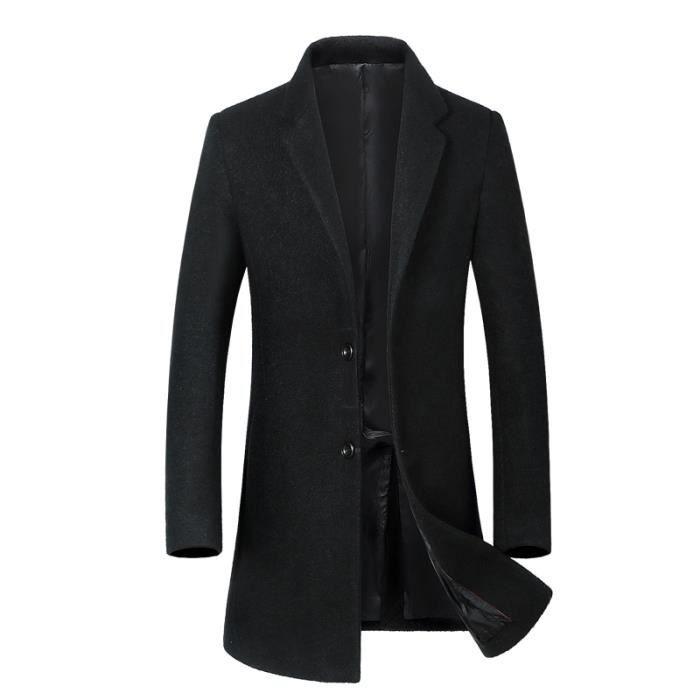 Manteau En Laine Homme Hiver Marque Luxe Costume Col Cachemire Pour
