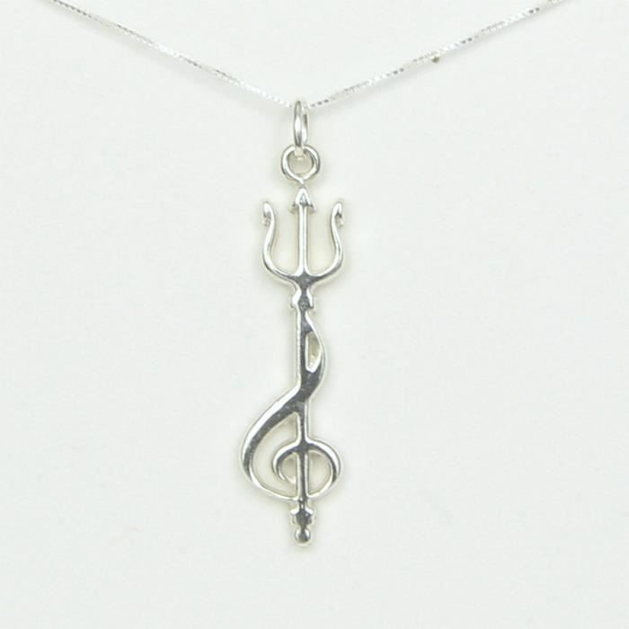 Craze Trident Treble Clef Little Mermaid InspiNecklace Musical Theater Chain