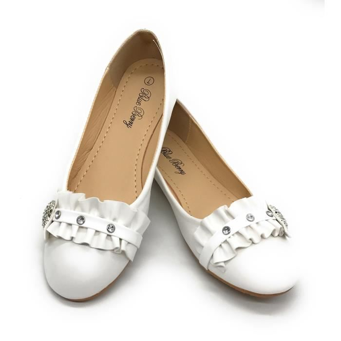Easy21 Casual Flats Ballet Fashion Shoes Faux Leather KI7VL Taille-36 1-2