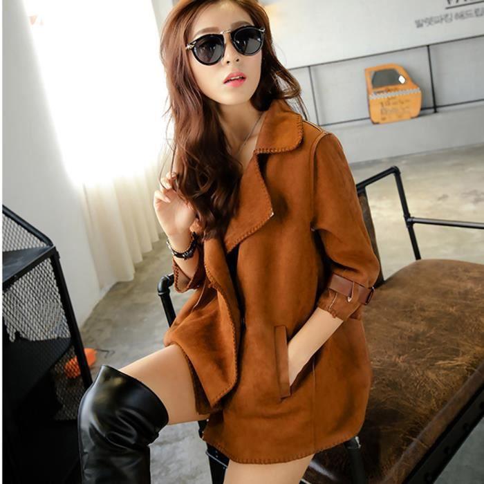 automne Hiver Vent 772 Veste Hauts Femmes Outwear Manteau Solide Mode Pardessus Coupe 5wtCnxSBXq