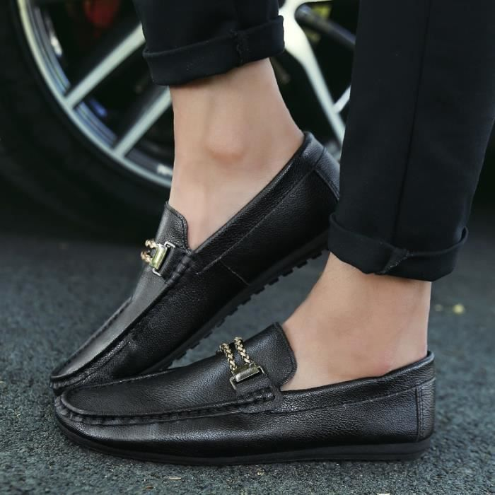 Mode homme Slip Ons Driving Mocassins Respirant