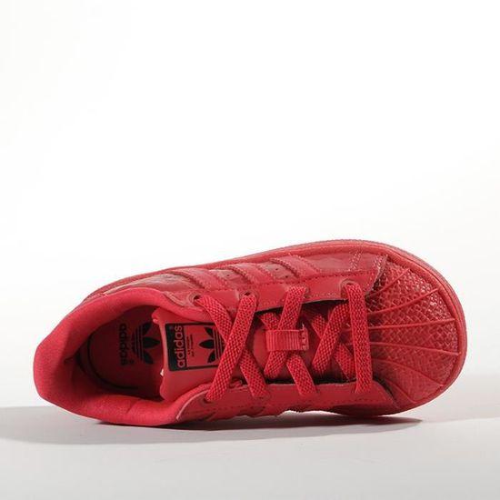 Chaussures Superstar Triple Rouge Bébé Garçon Adidas Rouge