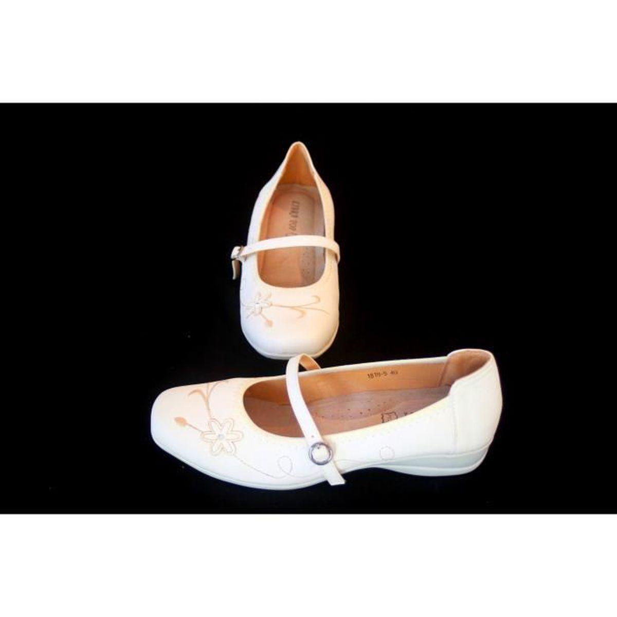 Chaussures femme blanche Confort Taille 40 auSsPoU