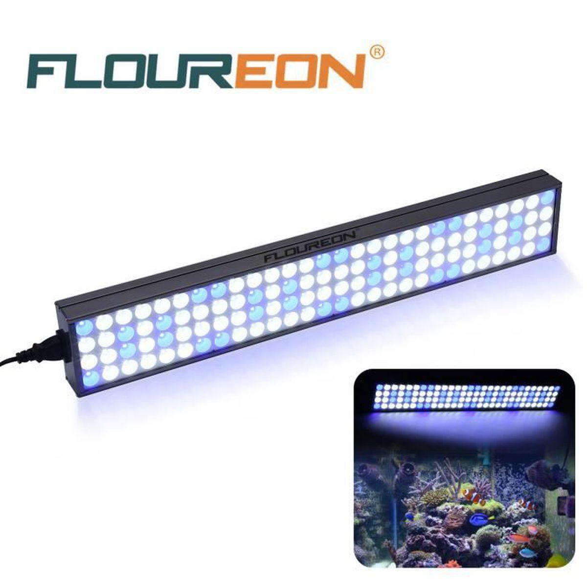 """Aquarium Lampe L'eau 25"""" Eclairage Floureon 60w 112pcs Poisson Led j54AL3R"""