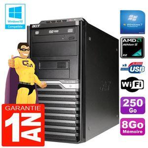 UNITÉ CENTRALE + ÉCRAN PC Tour ACER Veriton M421G Athlon II X2 8Go Disque