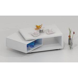 plutôt sympa ca28e 509b8 Table basse design LUK pivotante laquée blanche - Achat ...
