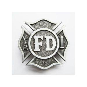 434c161da4ff ... trucker noire routier homme rock. 20€90. boucle de ceinture pompier  blason americain brut firemen