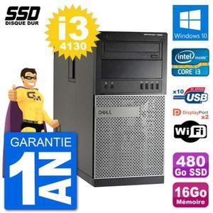 ORDI BUREAU RECONDITIONNÉ PC Tour Dell 7020 Intel Core i3-4130 RAM 16Go SSD