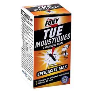 PRODUIT INSECTICIDE Moustiques Fury Recharge liquide diffuseur électri