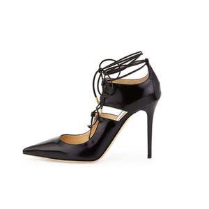 Chaussure Nouveau En Véritable Talon Aiguille À Cuir Avec Femme I9E2WDYH
