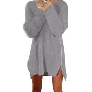 7905ca6ca5ac PULL Tomwell Femme Automne Hiver Pull Robe Casual Manch