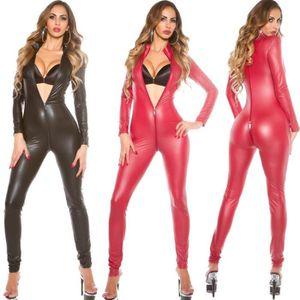 ENSEMBLE DE LINGERIE Catwoman Costume Sexy Dames Noir Wetlook Vinyle En