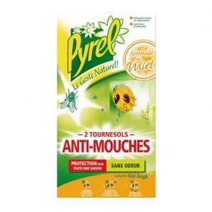 PRODUIT INSECTICIDE Anti-mouches - tournesols - lot de 2