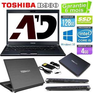 ORDINATEUR PORTABLE Toshiba R930 Core i5 128Go SSD 4Go