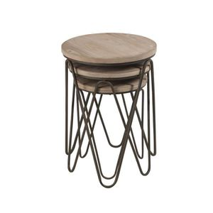 TABLE GIGOGNE Tables gigognes rondes - FACTORY - L 45 x l 45 x H