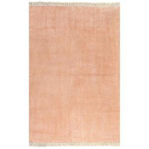 TAPIS Tapis Kilim Coton 160 x 230 cm Rose