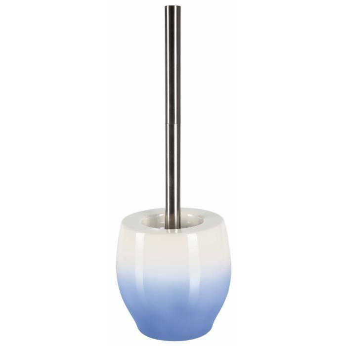 BALI Porte balai WC - 39,5 x 12,5 x 12,5 cm - Bleu