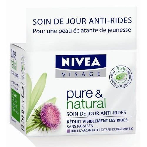 Visage soin anti-âge jour pure & natural - 50 mlSOIN ANTI-AGE - SOIN ANTI-RIDE