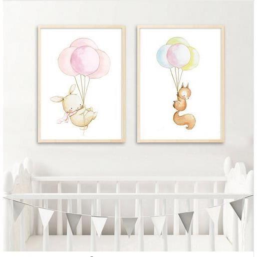 animal nordique poster lphant lapin ballon toile imprimer mur art peinture dcoratif photo dcoration chambre bb