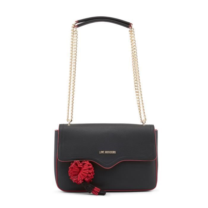 744a74131b Sac à bandoulière noir et rouge femme Love Moschino Noir - Achat ...