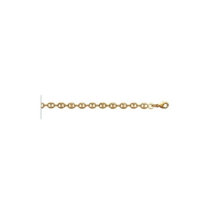 Bracelet chaine gourmette grain de café en plaq…