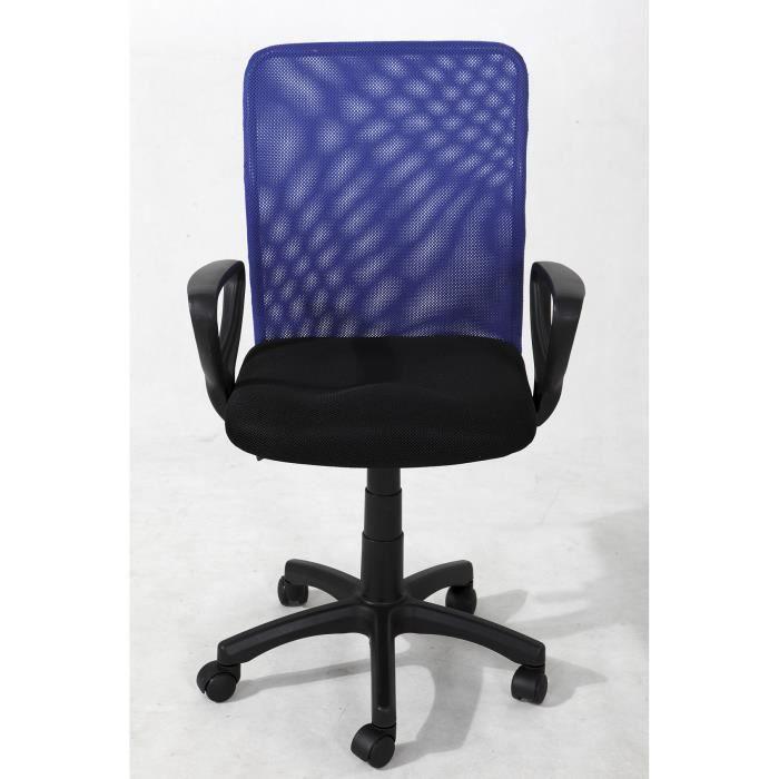 De Roulettes Dimen… Bureau Vente Chaise Noir Bleu Achat 5 vmN8n0Ow