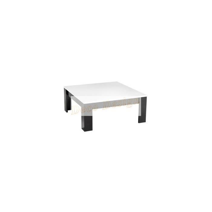 Table basse design noir blanc laque achat vente table - Table basse noir laque pas cher ...