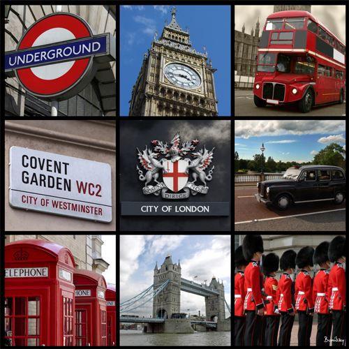 Tableau mosa que modern city of london 50 x 50 cm achat - Image de londres a imprimer gratuit ...