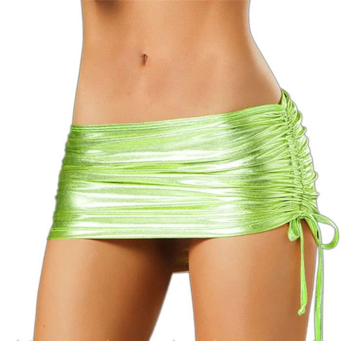 0b269191d8cce9 Mini-jupe robe sexy femme de soirée en sous-vêtements mini-jupe Vert ...