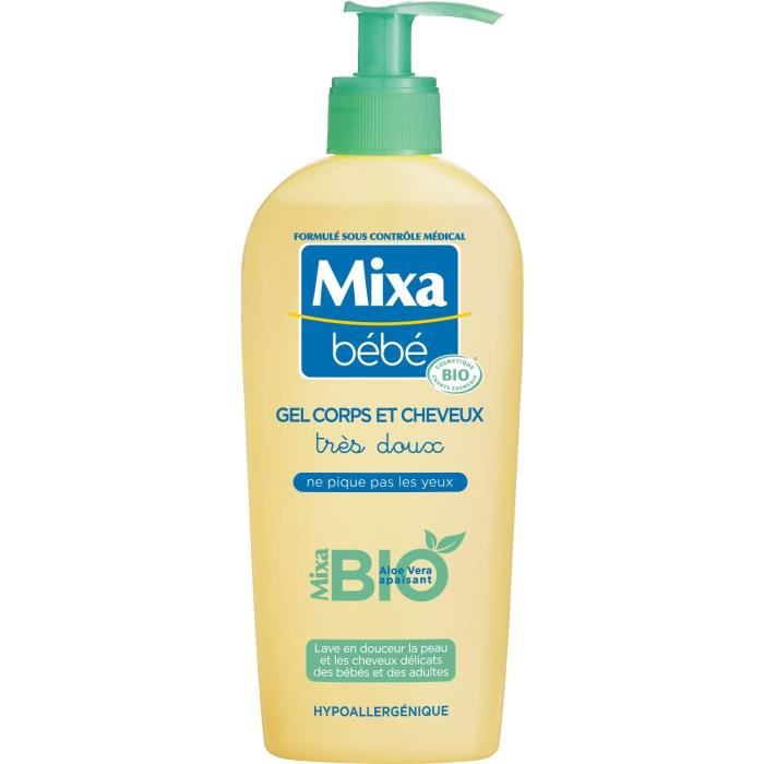 SAVON - SHAMPOING BÉBÉ MIXA BEBE Gel corps et cheveux BIO 250ml