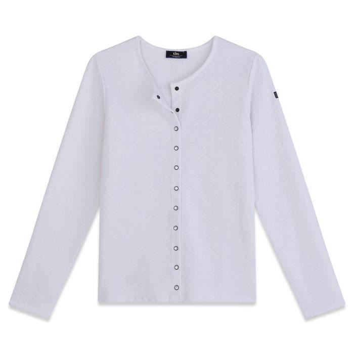 0ee80549348192 Tbs Veste Vest Dragil Blanc Veste - Manteau Femme Vêtements Blanc ...