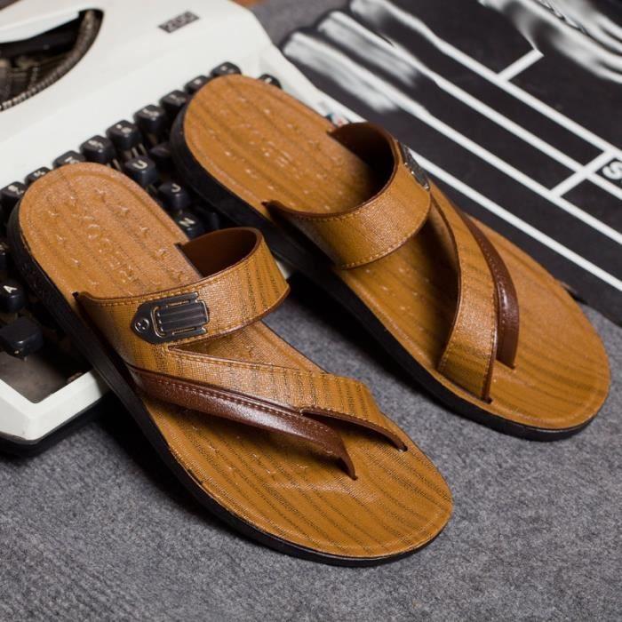 Mode d'été Sandales Slipper plage pour hommes 3EzVCuJ
