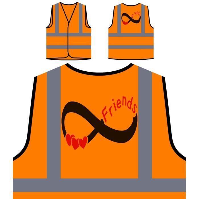 Protection Haute Orange Infinis À De amis Visibilité Veste Visibilit Personnalisée 4qAnfxHX5w