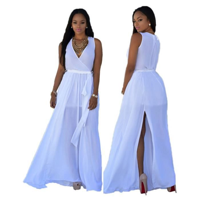 Femmes Robes Courroies Collier V Sexy Robe Haute taille Mode Loisirs vetement Nouvelle arrivee Grande Taille s-xxxl ylyf091