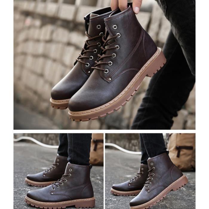 Bottes Hommes 2018 nouvelles bottes, chaussures occasionnelles, bottes de Martin imperméables, rétro, à la mode, cool