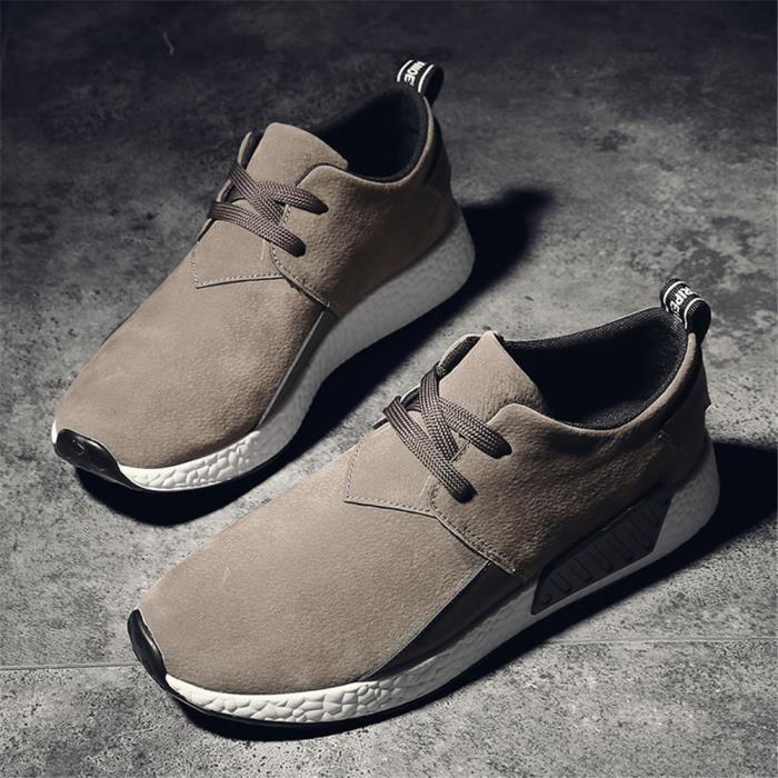 Sneaker Homme 2018 hiver Qualité Supérieure Marque De Luxe Chaussure Nouvelle Arrivee Cool Chaussure Antidérapant Beau 39-44 Gris Gris - Achat / Vente basket  - Soldes* dès le 27 juin ! Cdiscount
