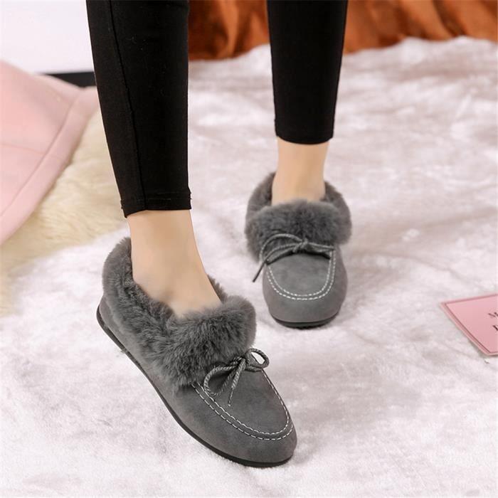 40 Mocassin gris Femme 2018 Chaussures Taille noir Confortable marron Couleur Marque Haut Luxe mode Mocassins qualité De 35 Tddwrqp