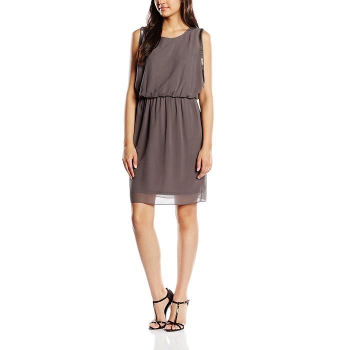 Esprit Femmes 016eo1e015 - Robe sans manches en mousseline de soie 2T58R2 Taille-36