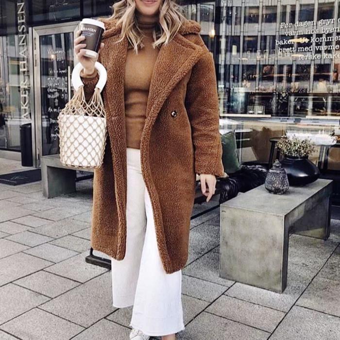 Bj4878 Poil Femmes De Parka Manteau Couverture Pardessus Solide Casual Outwear D'hiver Chaud aaqOP