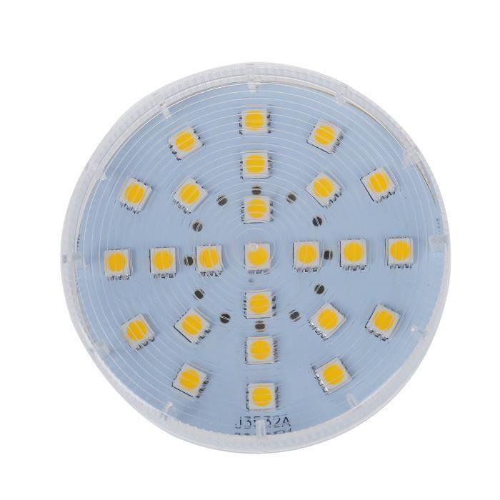SODIAL(R) GX53 25 5050 SMD LED Lampe Economie d'energie Lampe Ampoule AC 220-240V 4W Blanc chaud