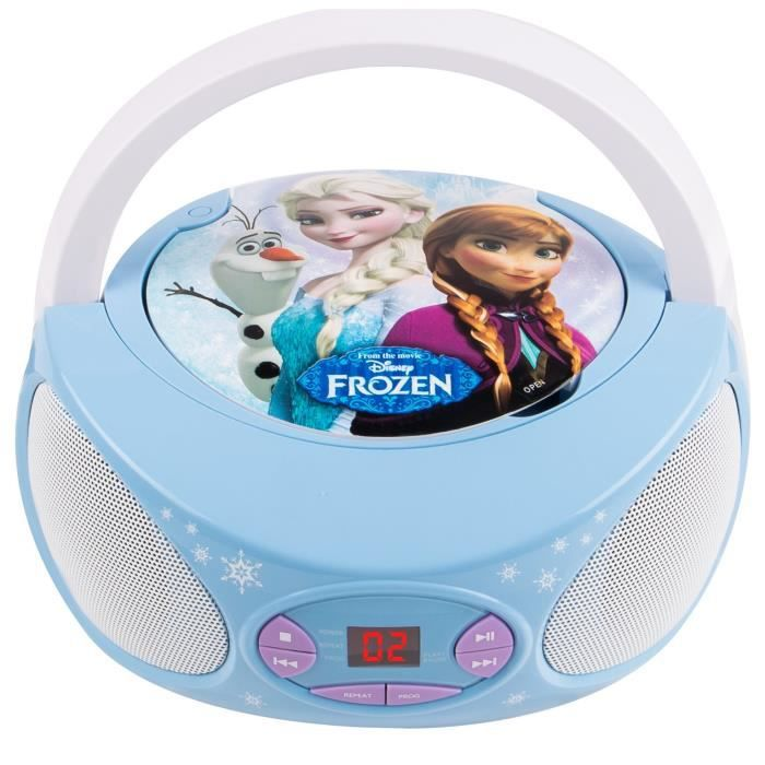RADIO CD ENFANT LA REINE DES NEIGES Lecteur CD enfant Boombox